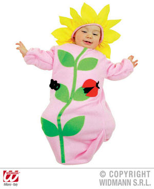 Baby Pink Flower Bonnet And Bib Nature Wild Life Fancy Dress Costume