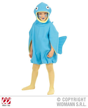 Childrens Fish Fancy Dress Costume Flounder Nemo Ocean Fish Outfit 3-4 Yrs