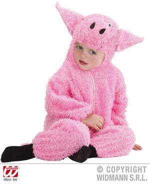 Fuzzy Pig Piglet Baby Fancy Dress Costume 0-6 Months Childrens Outfit