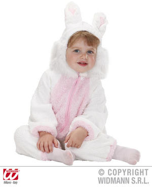 Fuzzy Bunny Rabbit Baby Fancy Dress Costume 12-24 Months Childrens Outfit