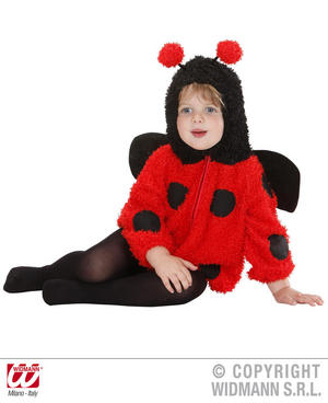 Fuzzy Ladybug Ladybird Baby Fancy Dress Costume 1-2 Yrs Childrens Outfit