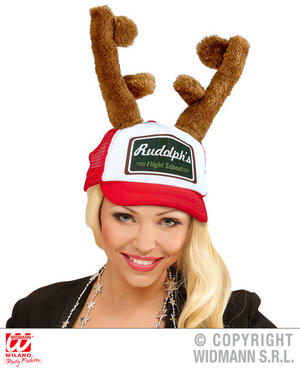 Reindeer Horns Cap Rudolph Christmas Xmas Fancy Dress Costume Accessory