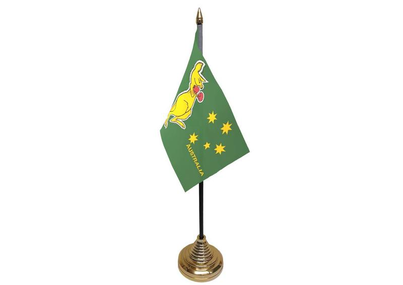 Boxing Kangaroo Hand Table or Waving Flag Australian
