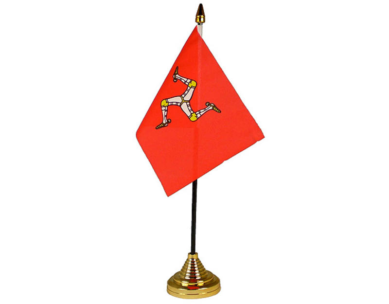Isle Of Man Hand Table or Waving Flag