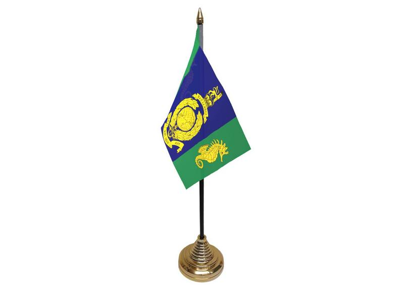 Logistic Regiment Royal Marines Hand Table or Waving Flag