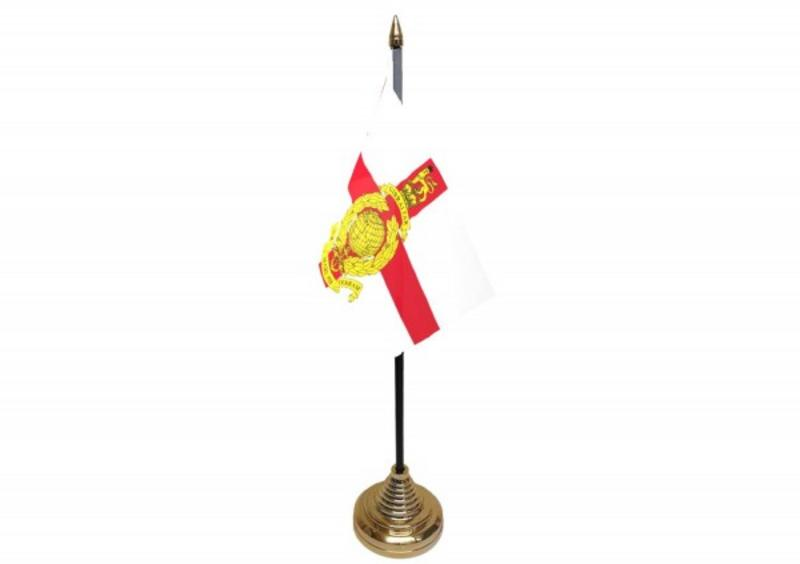Royal Marines Reserve London Hand Table or Waving Flag