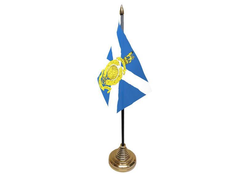 Royal Marines Reserve Scotland Hand Table or Waving Flag