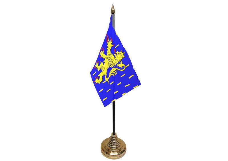 Franche-Comte Hand Table or Waving Flag French France Region