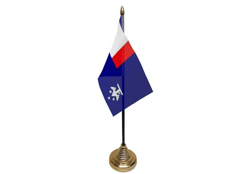 French Southern Antarctic Lands Hand Table or Waving Flag French France Region