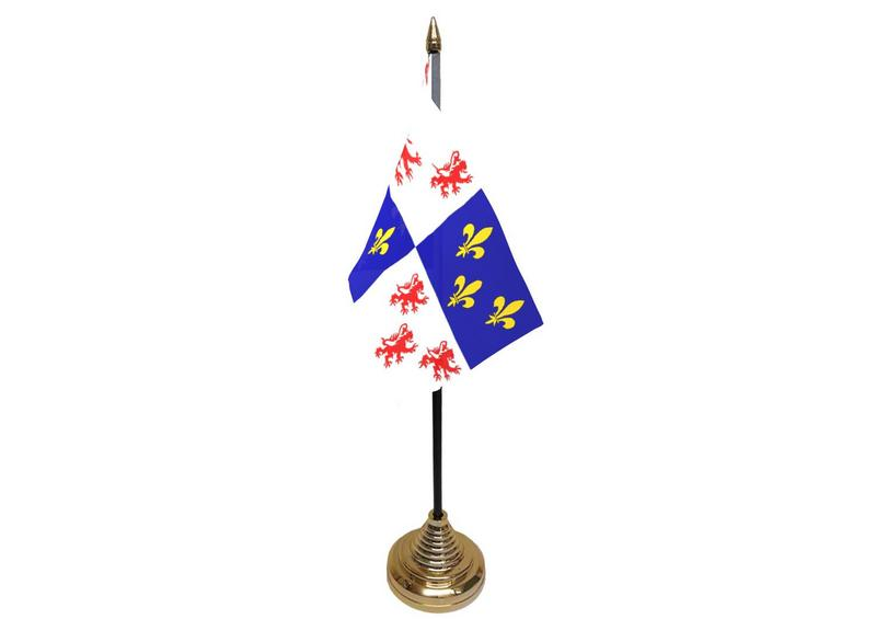 Picardy Hand Table or Waving Flag French France Region