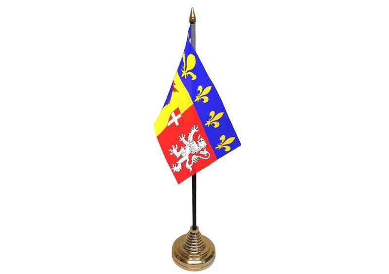 Rhone-Alpes Hand Table or Waving Flag French France Region