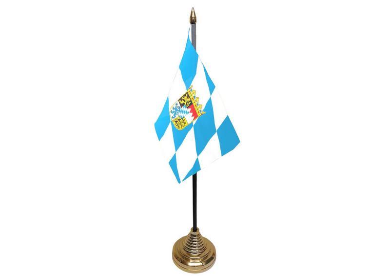 Bavaria Crest Hand Table or Waving Flag German State Germany Region