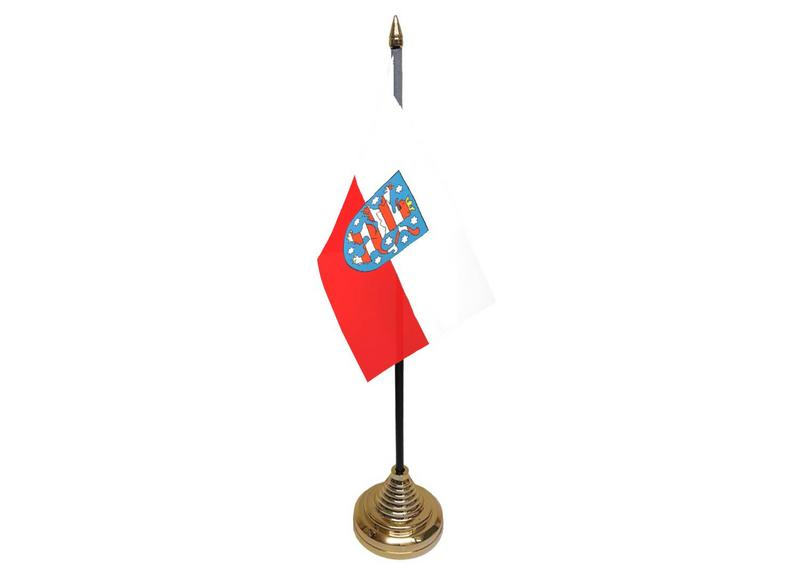 Thuringen Hand Table or Waving Flag German State Germany Region