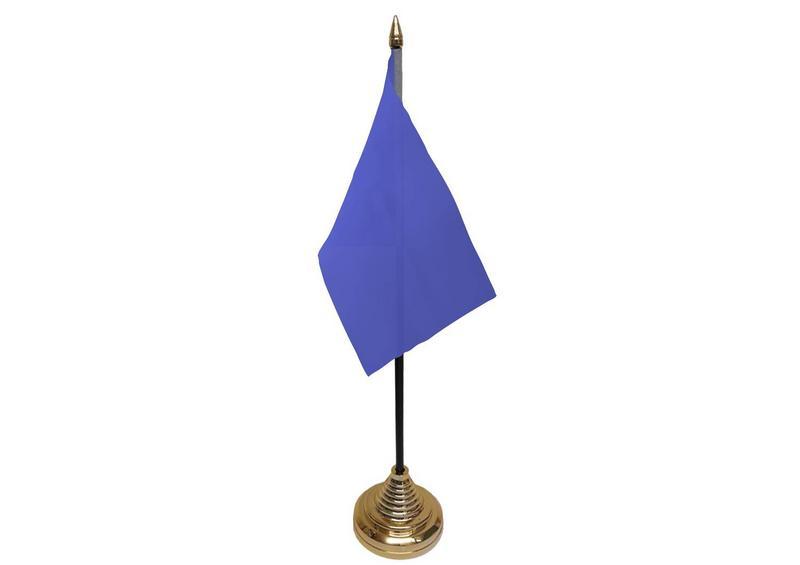 Plain Blue Hand Table or Waving Flag