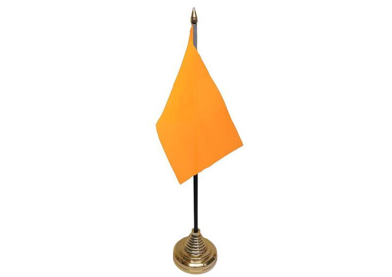 Plain Orange Hand Table or Waving Flag