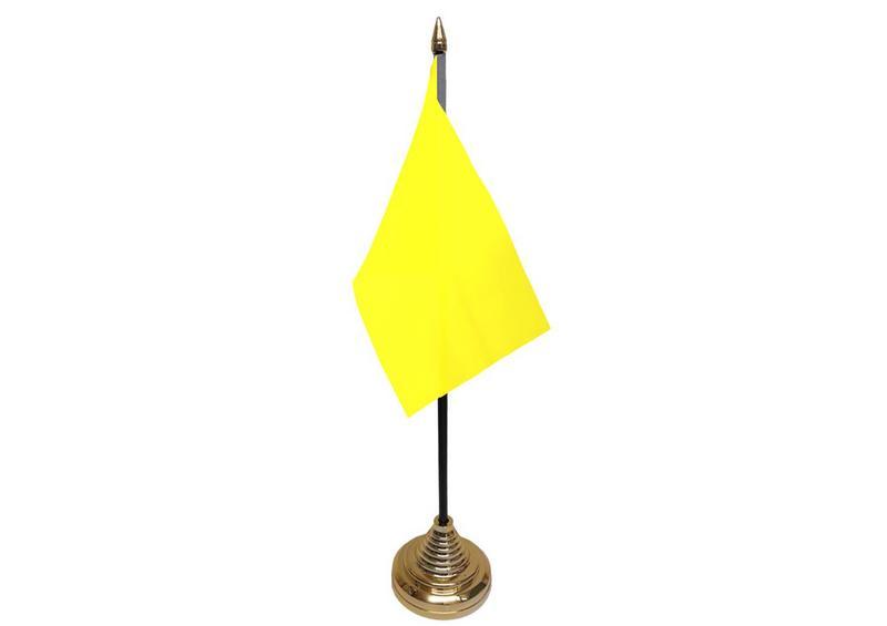 Plain Yellow Hand Table or Waving Flag