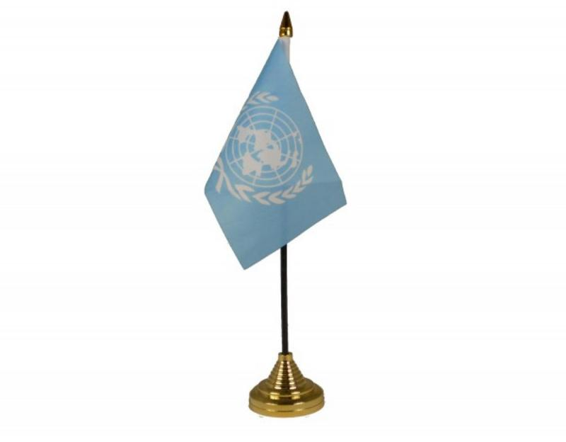 United Nations Hand Table or Waving Flag