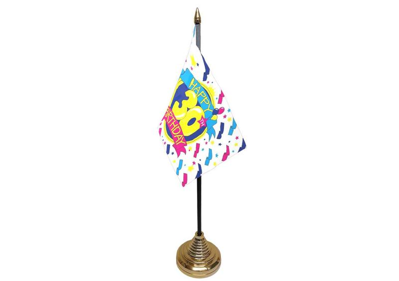 30th Birthday Hand Table or Waving Flag Party Decorations