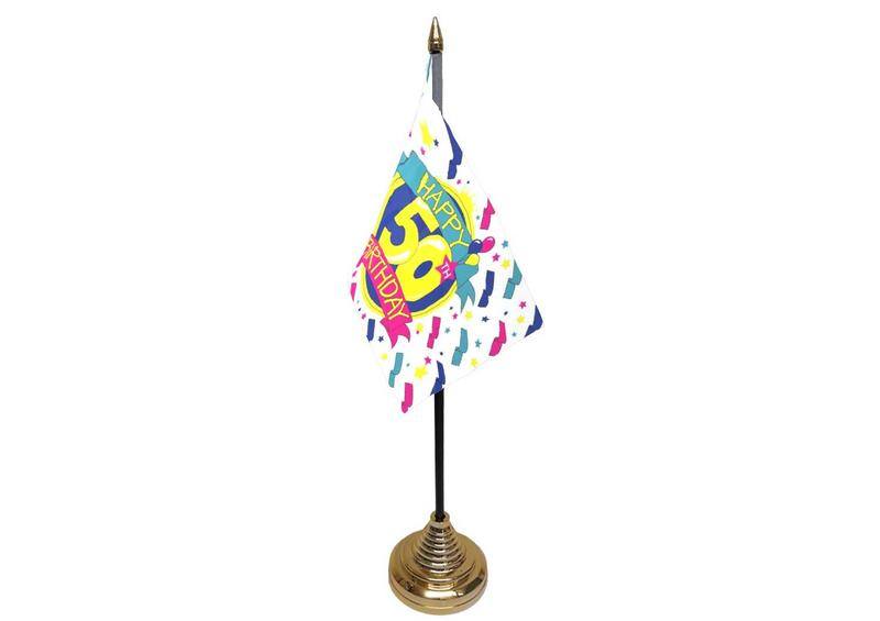 50th Birthday Hand Table or Waving Flag Party Decorations