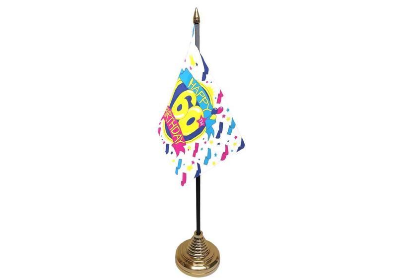 60th Birthday Hand Table or Waving Flag Party Decorations
