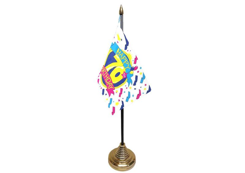 70th Birthday Hand Table or Waving Flag Party Decorations