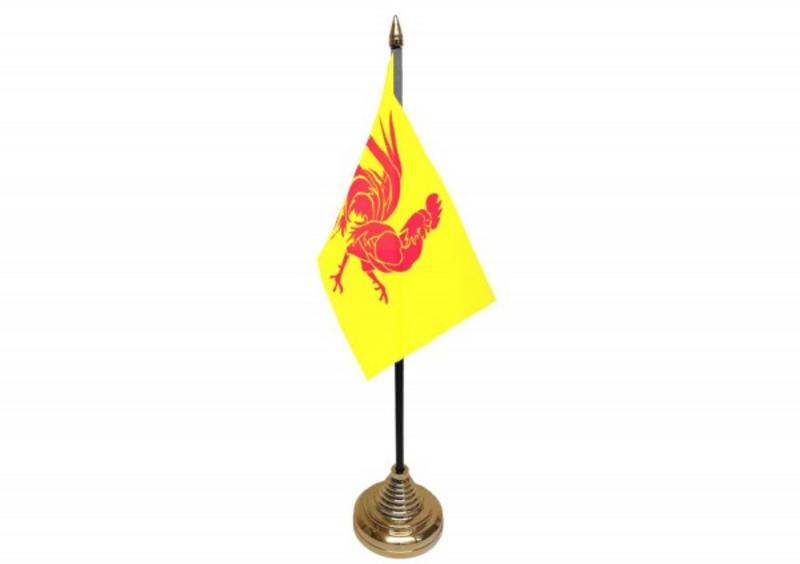 Coq Walloon Hand Table or Waving Flag