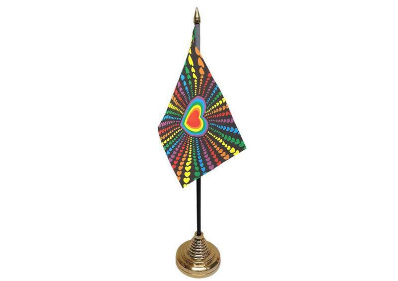 Rainbow Love Hand Table or Waving Flag