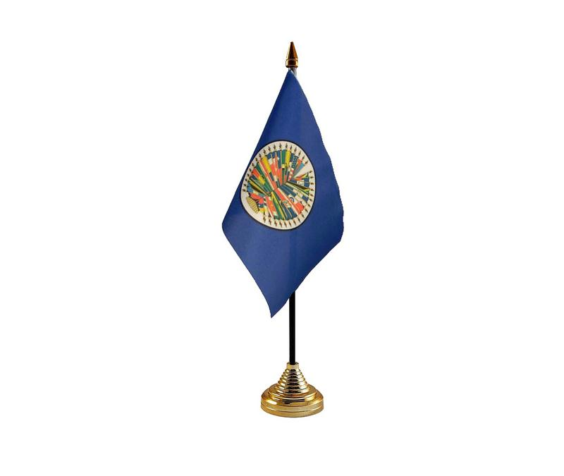 American States Hand Table or Waving Flag USA America