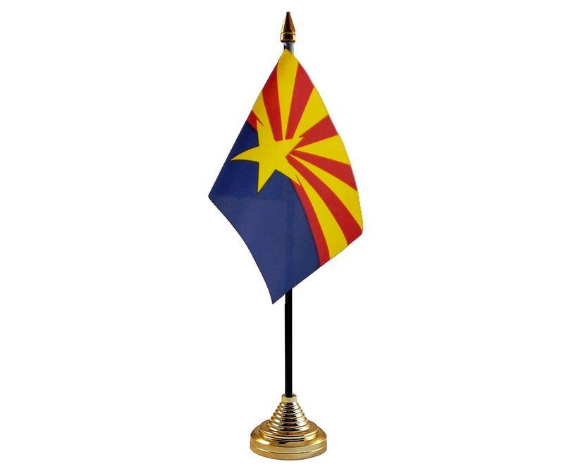 Arizona American State Hand Table or Waving Flag USA America