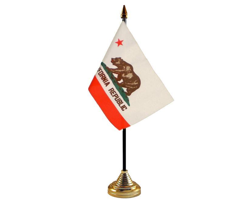 California American State Hand Table or Waving Flag USA America