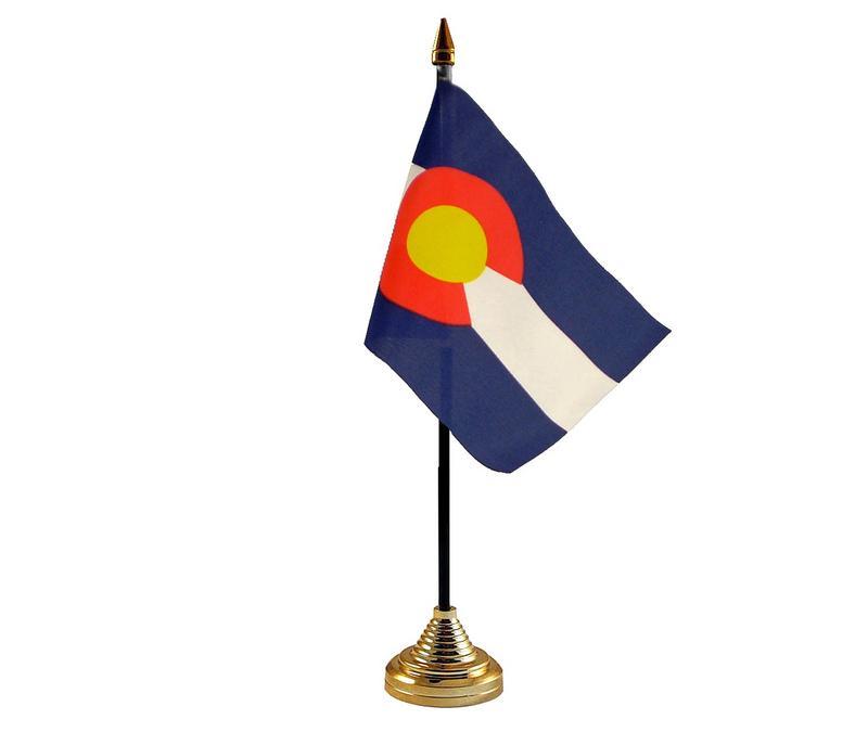 Colorado American State Hand Table or Waving Flag USA America
