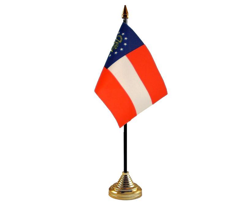 Georgia new American State Hand Table or Waving Flag USA America
