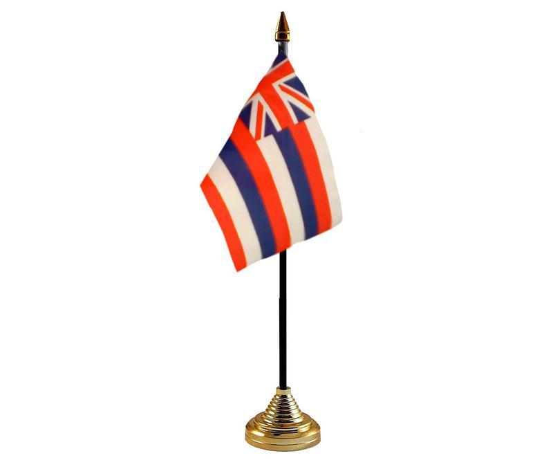 Hawaii American State Hand Table or Waving Flag USA America