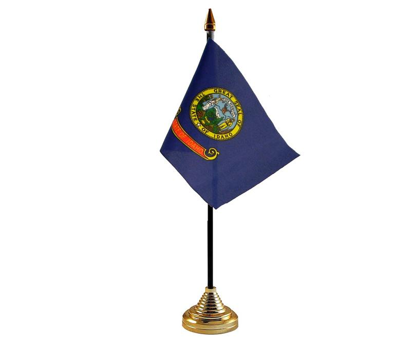 Idaho American State Hand Table or Waving Flag USA America