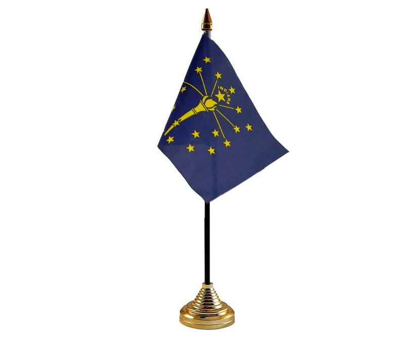 Indiana American State Hand Table or Waving Flag USA America