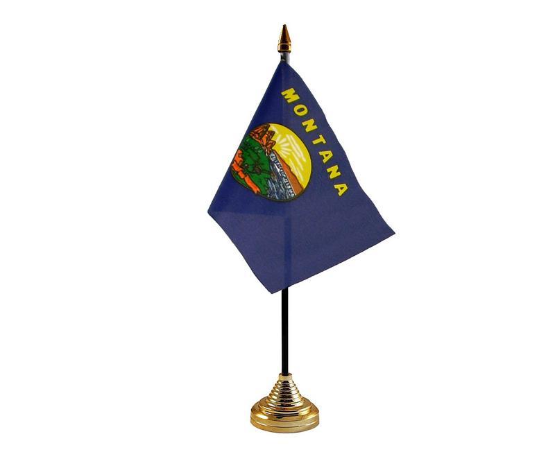 Montana American State Hand Table or Waving Flag USA America