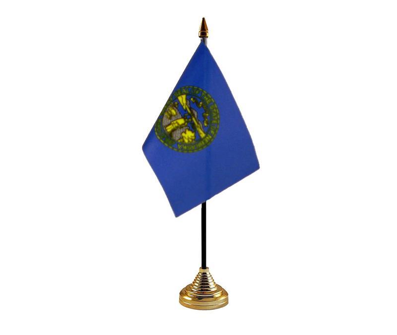 Nebraska American State Hand Table or Waving Flag USA America