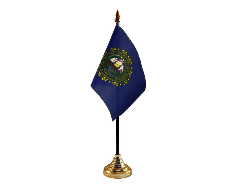 New Hampshire American State Hand Table or Waving Flag USA America