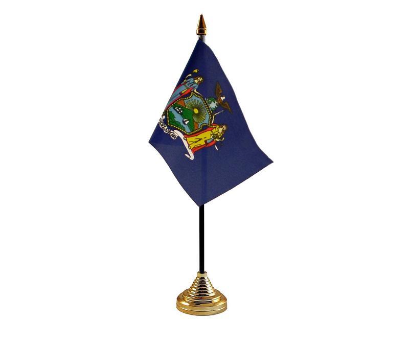 New York American State Hand Table or Waving Flag USA America
