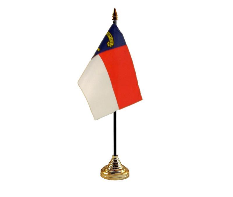 North Caroline American State Hand Table or Waving Flag USA America