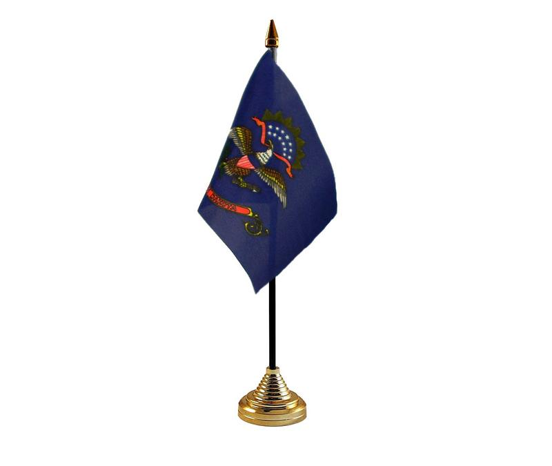 North Dakota American State Hand Table or Waving Flag USA America