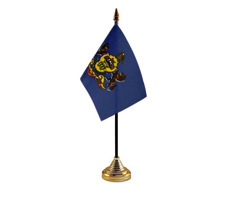 Pennsylvania American State Hand Table or Waving Flag USA America