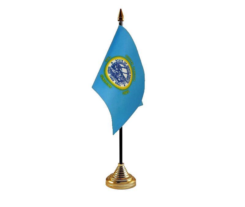 South Dakota American State Hand Table or Waving Flag USA America
