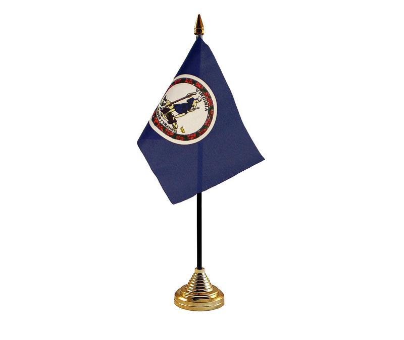 Virginia American State Hand Table or Waving Flag USA America
