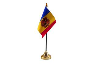 Andorra Hand Table or Waving Flag Country