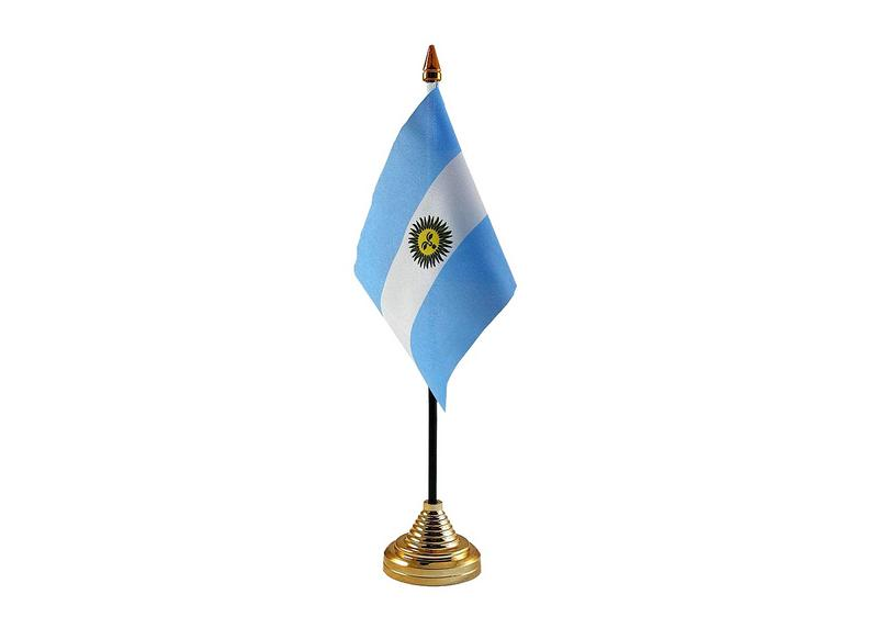 Argentina Hand Table or Waving Flag Country Argentinian