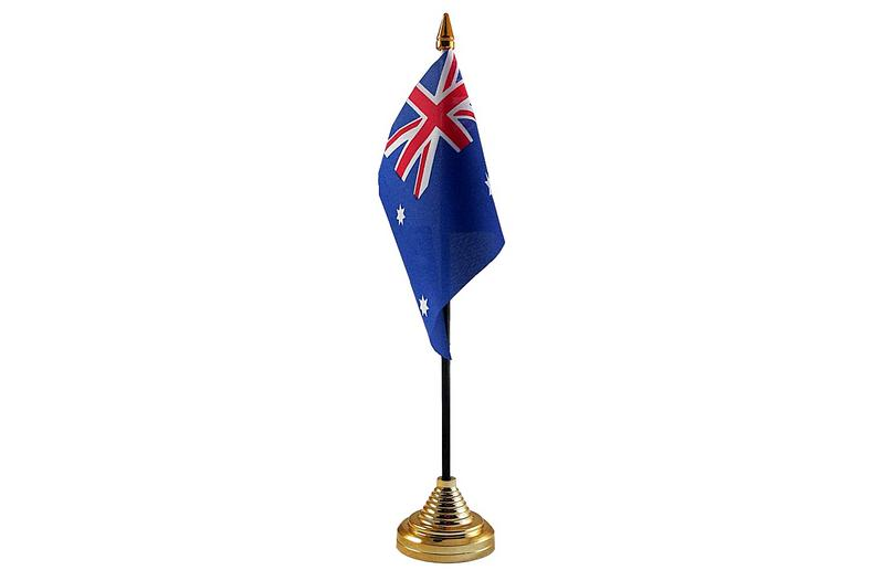 Australia Hand Table or Waving Flag Country Australian