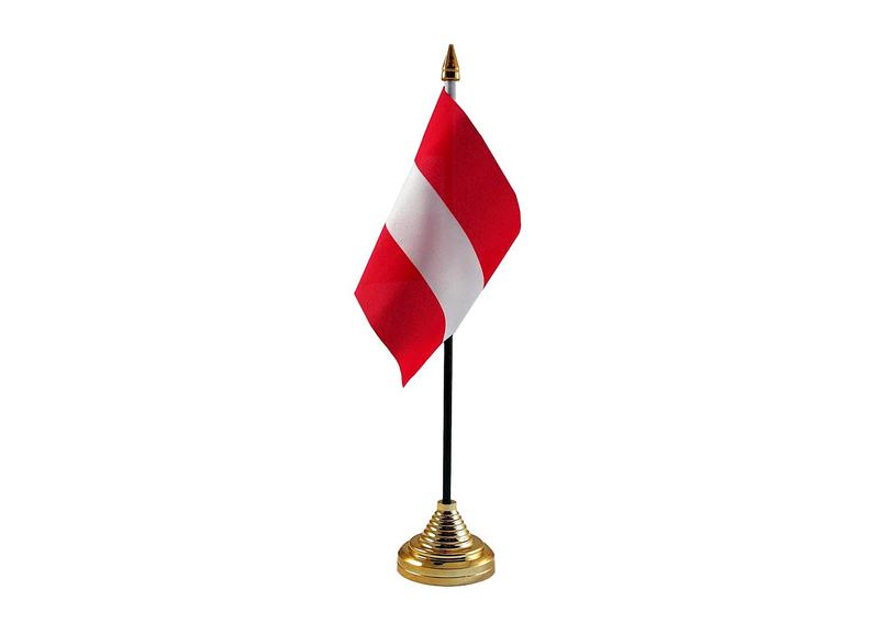Austria Hand Table or Waving Flag Country Austrian