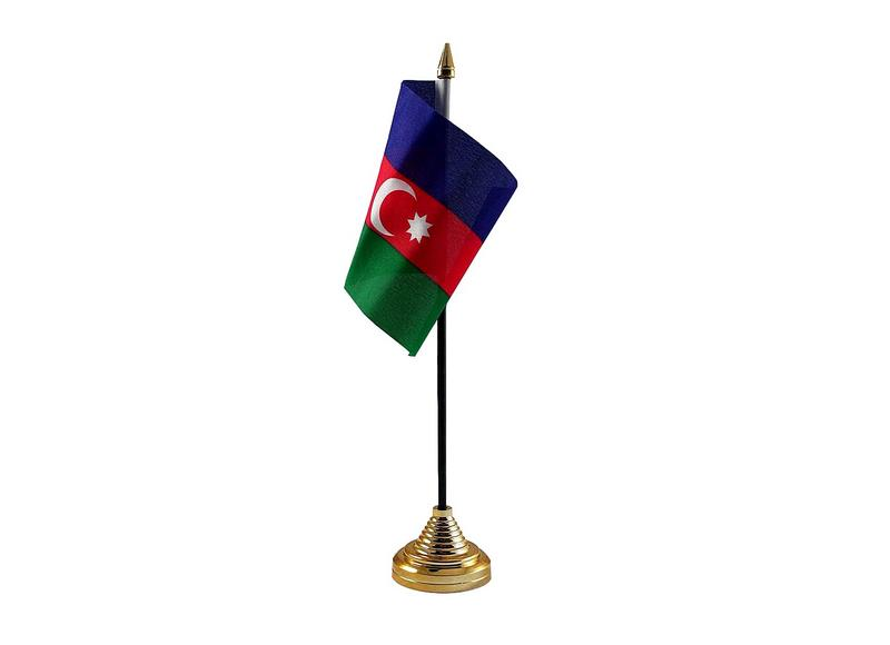 Azerbaijan Hand Table or Waving Flag Country