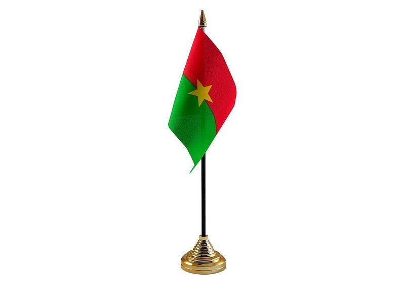 Burkina Faso Hand Table or Waving Flag Country